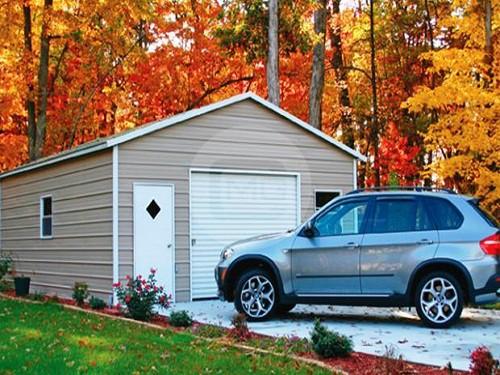 20x26x9 boxed eave garage plan prefab steel garage building for 20 x 26 garage