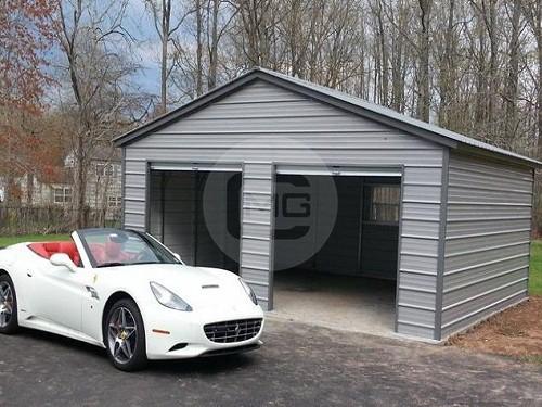 Instant Car Garage Steel : Vertical roof standard enclosed garage for sale