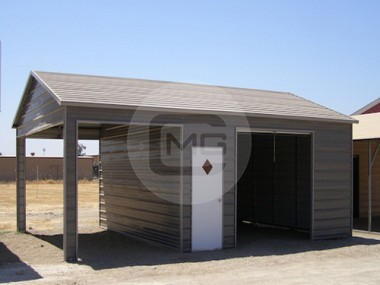 Metal garages prefabricated and steel garage buildings for Side entry garage