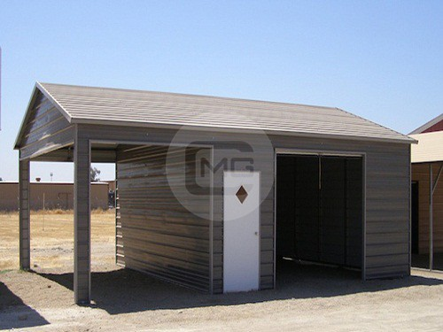 20x31x9 a frame garage side entry metal garage for sale for Side entry garage