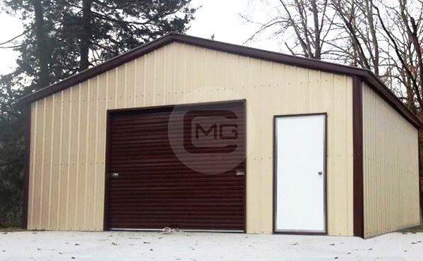18x21x9 A Frame Boxed Eave Garage