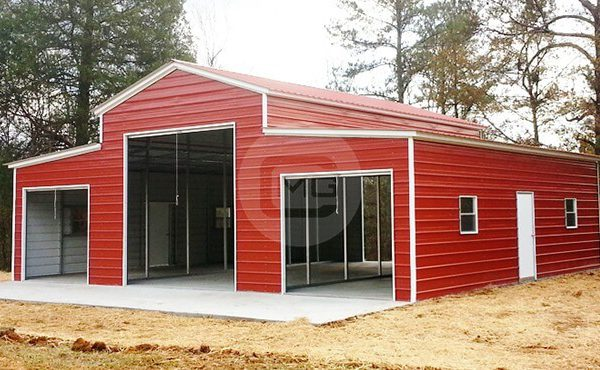 42x36x14/10 Vertical Roof Carolina Barn | 42x36 Metal Barn