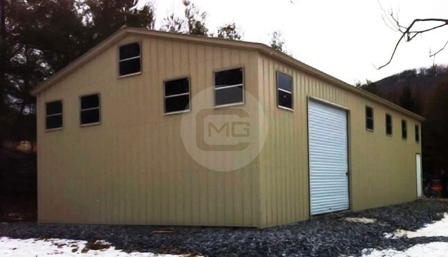 30x41x12-All-vertical-workshop & Garages For Sale | Metal Storage Sheds | Buy Prefab Steel Garage Online