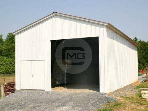 Pre engineered steel garage 24x36x14 vertical roof garage for Pre engineered garage