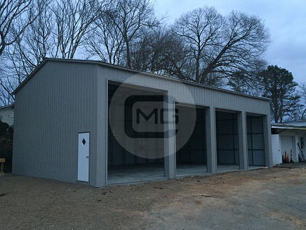 24x51x14 side entry garage certified metal garage with for Side entry garage