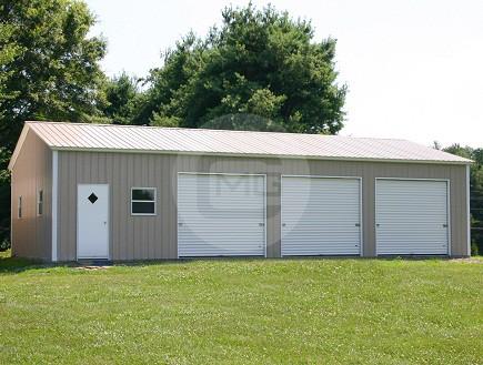 24 width garage buildings pre engineered garage plans for How wide is a 3 car garage