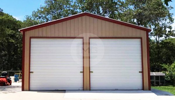 2-car-metal garage-24x36x11