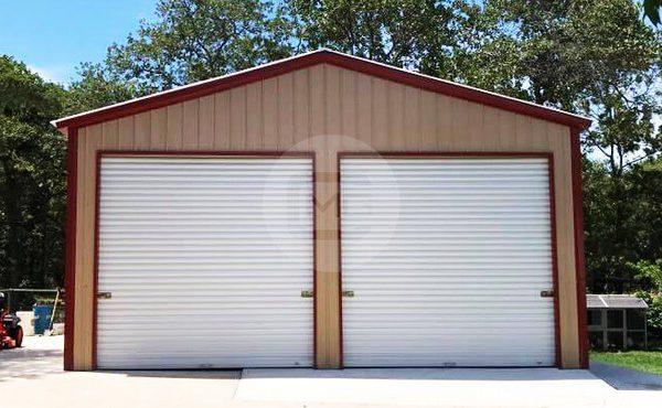 2 Car Metal Garage 24x36x11