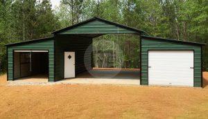 44x31 Raised Center Aisle Barn