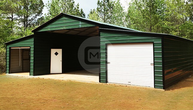 raised-center-aisle-metal-barn-44x31