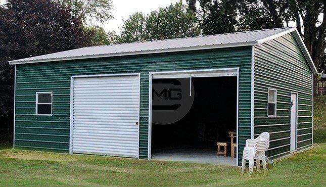 24x31 Certified Metal Garage Buy Side Entry Garage Online