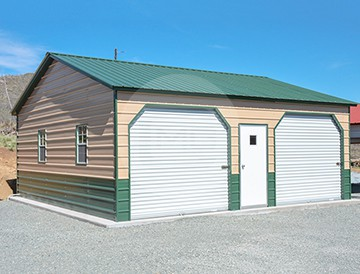 24x26x9 Fully Enclosed Metal Structure