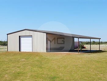 44x41 Lean To Garage Metal Garage With Lean To Price