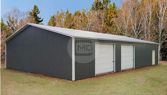 Commercial Steel Garages Inter : Clear span commercial garage metal machine shops