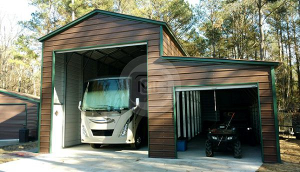 18x41 Rv Garage With Lean To Metal Rv Cover With Lean To
