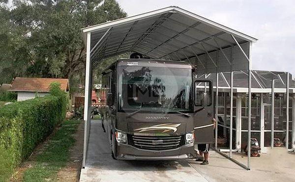 18x45 Camper Carport| Metal RV Carport| Metal Carport for RV