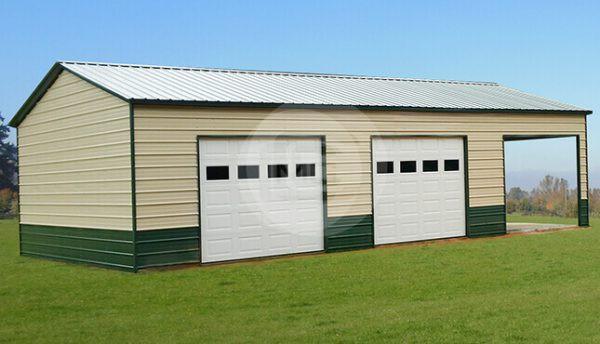 22x41x12 Two-Tone Side Entry Garage
