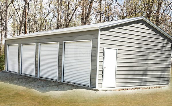 Amazing 22x45 Four Car Garage Building