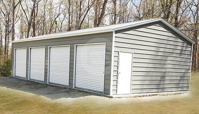 free bottom steel metal custom center garage lg rd buildings garages installation wm bay building