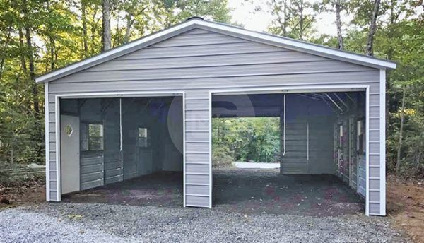 24x30-enclosed-metal-garage