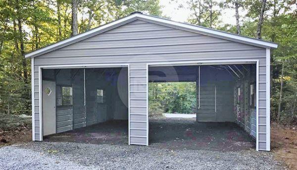 24x30-enclosed-metal-garage
