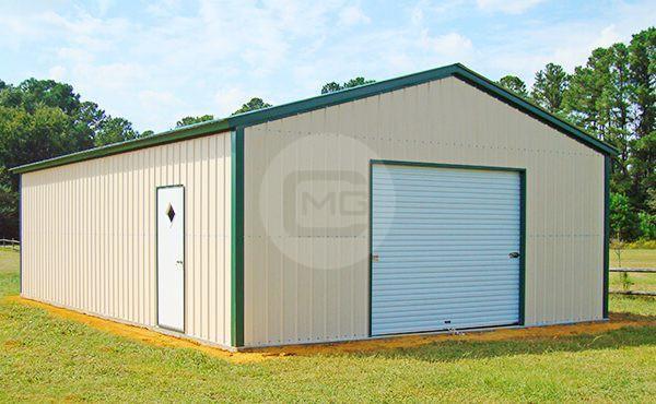 24x36 detached metal garage prefab metal garage for Detached garage utah