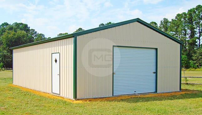 24x36 Detached Metal Garage