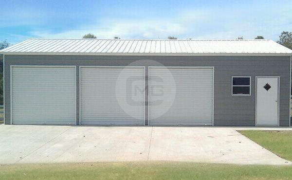 24x36 Side Parking Garage Side Entry Metal Garage