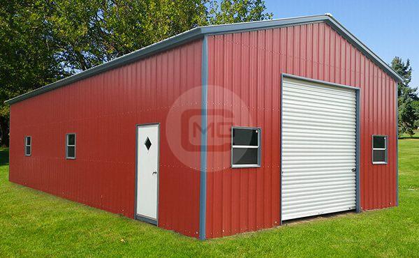 24x41x12 Prefab Garage, How Much Is A Prefab Garage