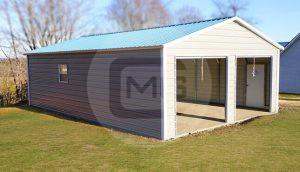 24x50 Prefab Metal Garage