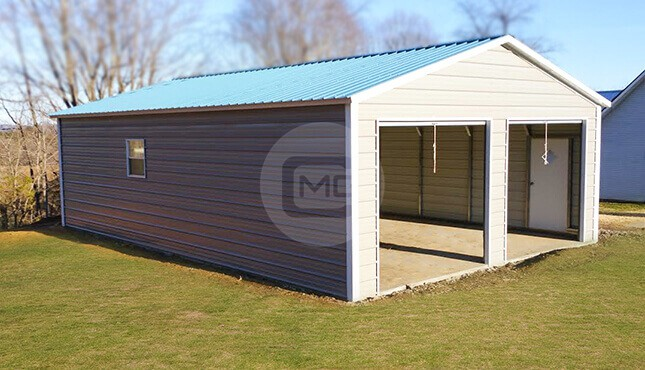 24x50 Prefab Metal Garage Prefabricated Garage For Two Cars