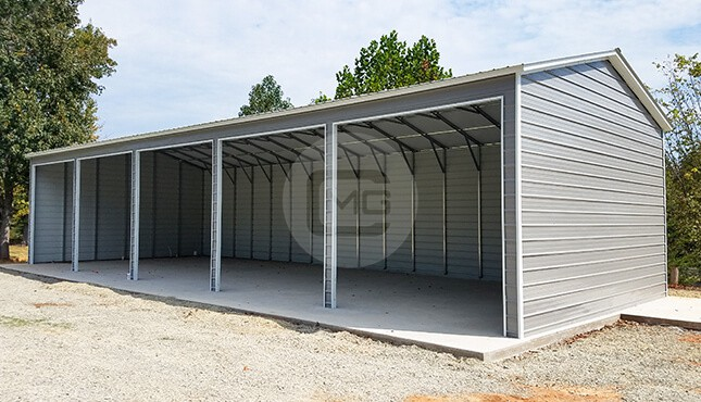 30x50 Metal Garage with Side Entry