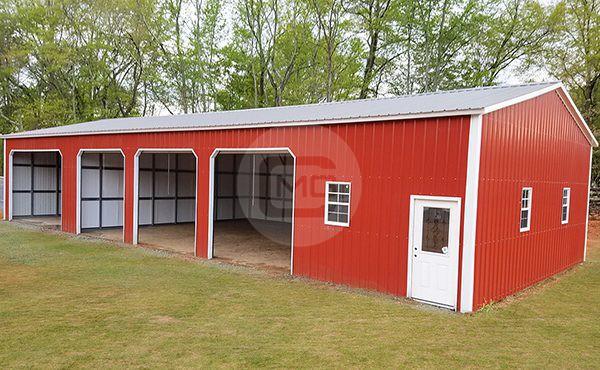 30x70 Insulated Side Entry Garage Steel Garage