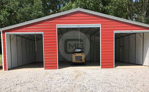 36x36 Barn Garage Seneca Barn Vertical Roof Barn