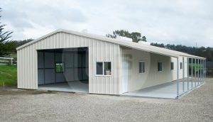 40x46 Enclosed Building with Lean-to