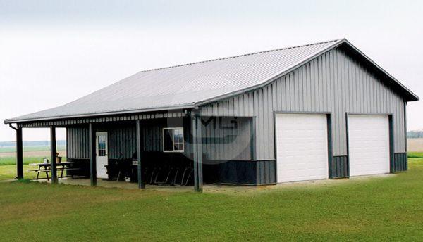 42x41 Garage Workshop with Porch