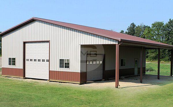 48x40 Lean To Garage Deluxe Garage Building