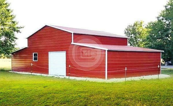48x31 Horizontal Roof Barn Agricultural Building