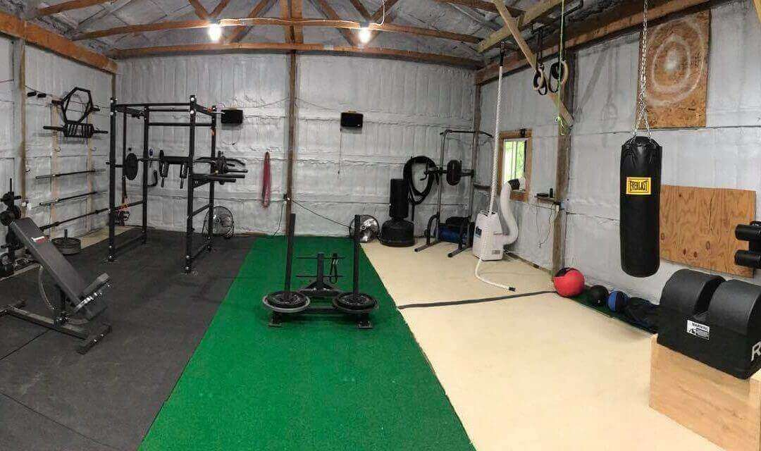 Turn your garage into a personal gym and stay fit at home
