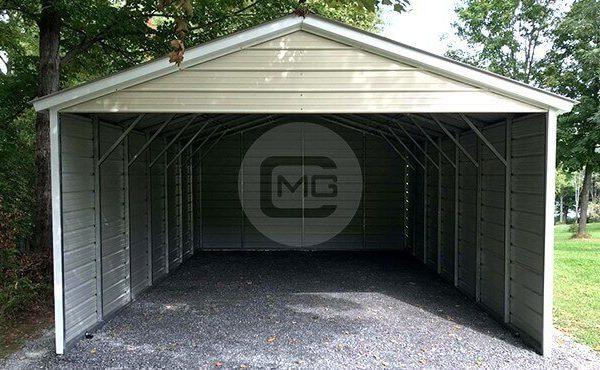 18x30 Three Sided Carport Enclosed Metal Carport Price