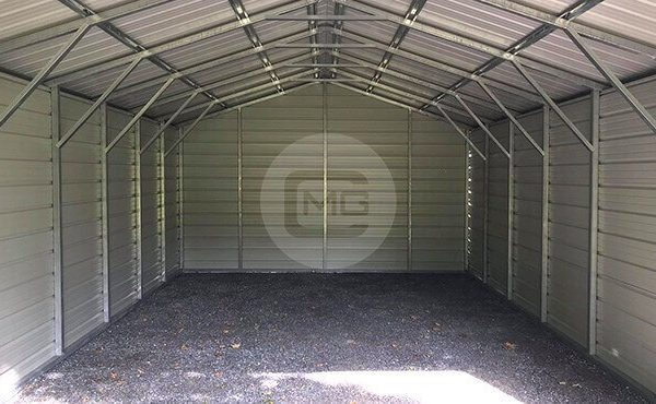 18x30 Three Sided Carport Enclosed Metal Carport Price