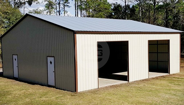 40x40 Vertical Roof Garage