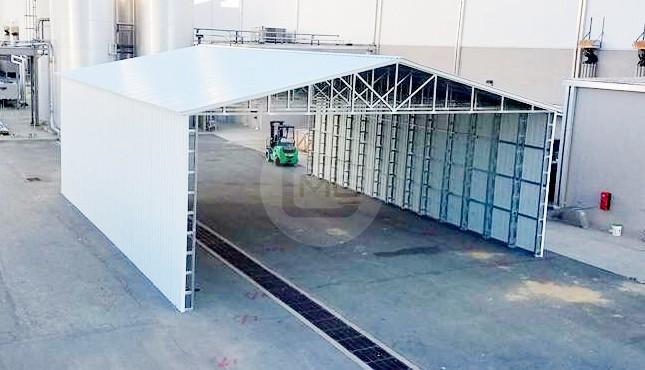 40x65 Vertical Roof Carport
