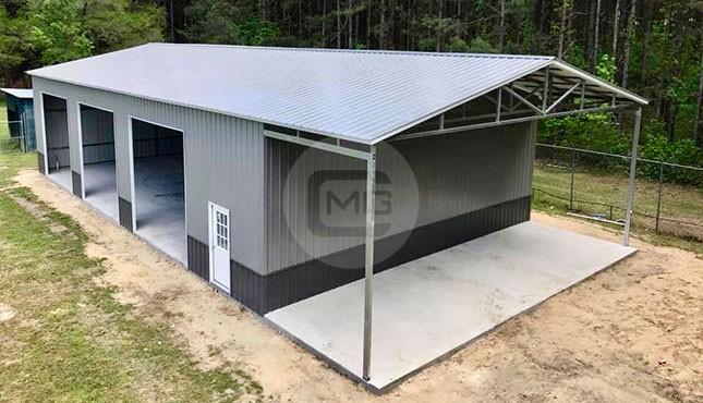 40x80 Vertical Roof Garage