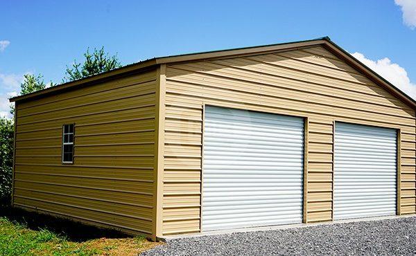 30x25 Vertical Roof Garage 30x25 Metal Garage Prices
