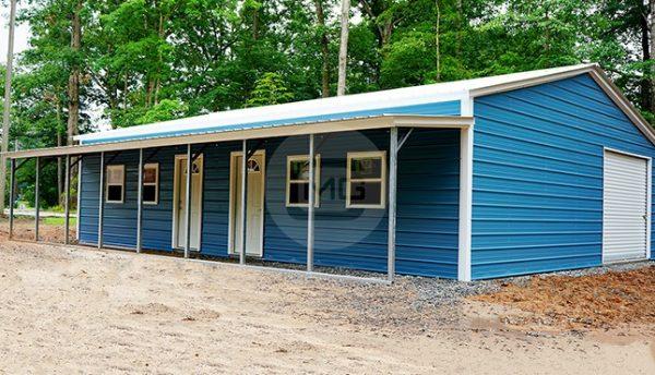 30x41 vertical roof garage