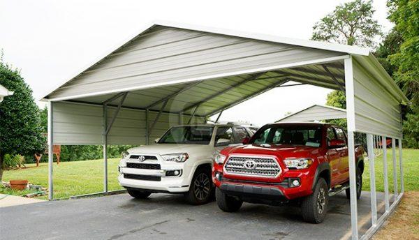 20x21 A-Frame Steel Carport