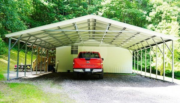 30x26 Vertical Roof Carport