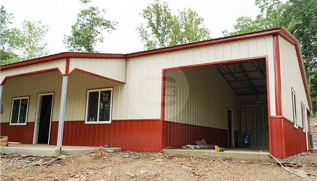 30x56 Steel Garage Building