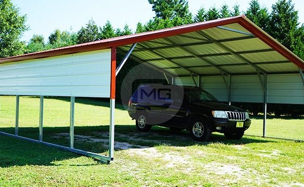 24x21 Vertical Roof Carport 24x21 Steel Carport Prices